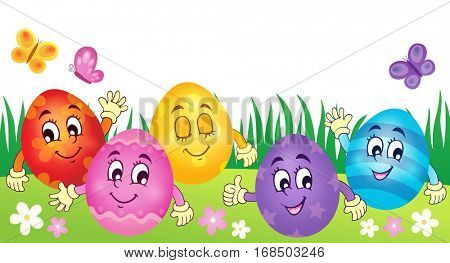Happy Easter eggs theme image 3 - eps10 vector illustration.