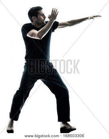 man krav maga fighters fighting isolated