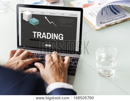 Trading Business Strategy Development Concept