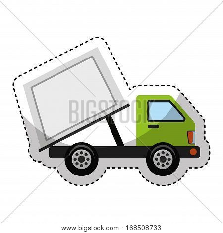 garbage truck isolated icon vector illustration design