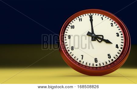 big clock deadline rush time four o'clock 3D illustration