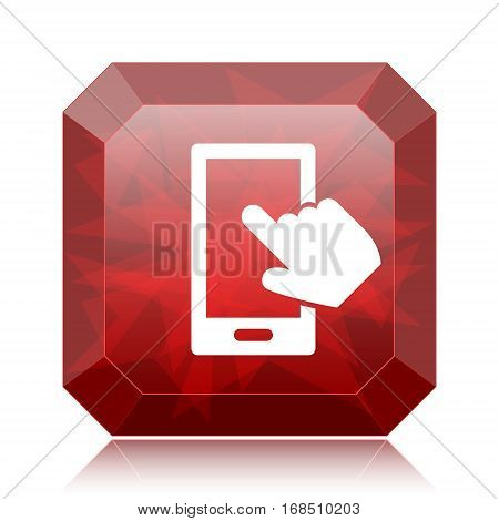 Smartphone With Hand Icon