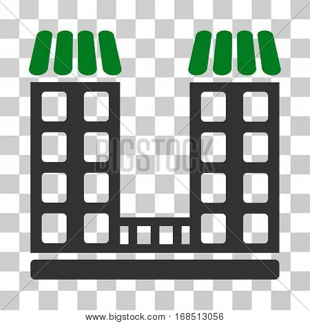 Company icon. Vector illustration style is flat iconic bicolor symbol, green and gray colors, transparent background. Designed for web and software interfaces.