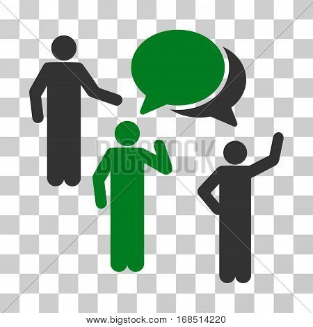 Forum icon. Vector illustration style is flat iconic bicolor symbol, green and gray colors, transparent background. Designed for web and software interfaces.