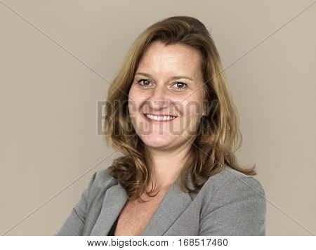 Adult woman corporate smiling headshot