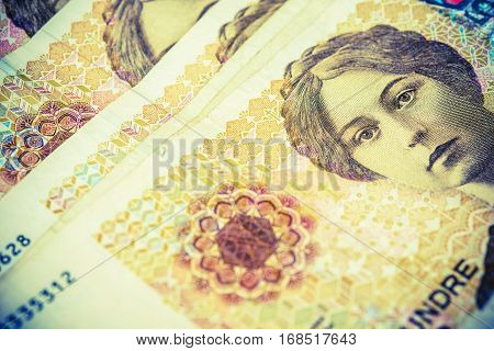 Banknotes of Norway Currency. Norwegian Krone Banknotes Closeup Photo.