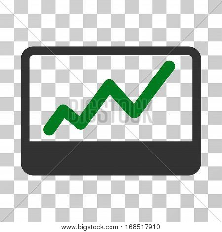 Stock Market icon. Vector illustration style is flat iconic bicolor symbol, green and gray colors, transparent background. Designed for web and software interfaces.