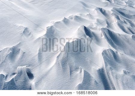 Snowdrifts In Snow At Winter
