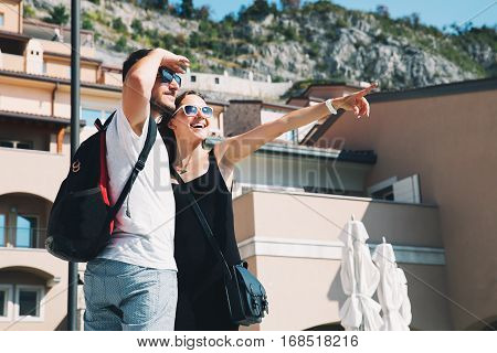 Travel Europe. Happy Couple In Portopiccolo Sistiana, Italy.