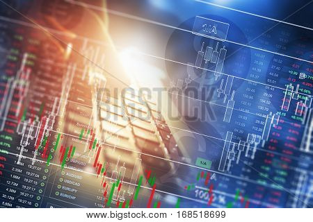 Money Trading Business Concept. Global Currencies Marketplace Trading. Global Business and Economy Photo Concept.