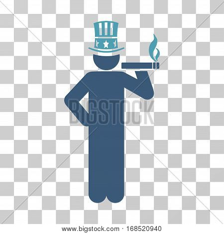 Capitalist icon. Vector illustration style is flat iconic bicolor symbol, cyan and blue colors, transparent background. Designed for web and software interfaces.
