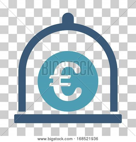 Euro Standard icon. Vector illustration style is flat iconic bicolor symbol, cyan and blue colors, transparent background. Designed for web and software interfaces.