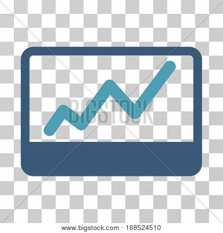 Stock Market icon. Vector illustration style is flat iconic bicolor symbol, cyan and blue colors, transparent background. Designed for web and software interfaces.