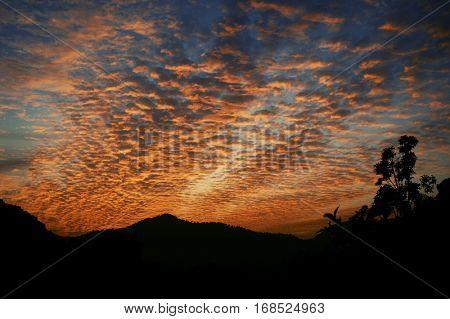 Sunset Abstract Dusk Summer Space Golden