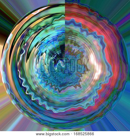 Abstract coloring background of the horizon gradient with visual lighting,wave,shear and poolar coordinates effects