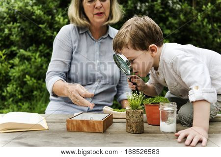 Kid Nature Exploring Concept