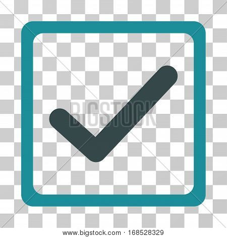 Checkbox icon. Vector illustration style is flat iconic bicolor symbol, soft blue colors, transparent background. Designed for web and software interfaces.