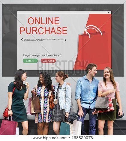 Online Shopping Cart E-Commerse Concept