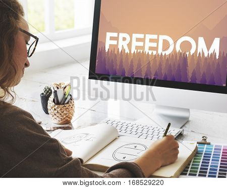 Freedom Courage Inspiration Passion Concept