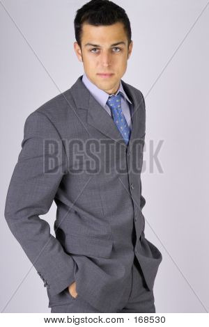 Business Man In The Suit