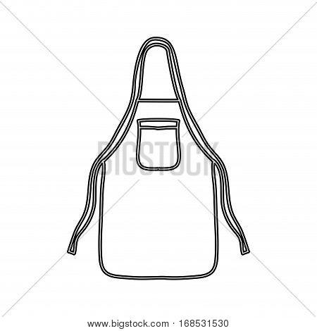 silhouette kitchen apron cloth icon vector illustration