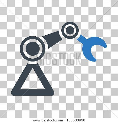 Manipulator Equipment icon. Vector illustration style is flat iconic bicolor symbol, smooth blue colors, transparent background. Designed for web and software interfaces.