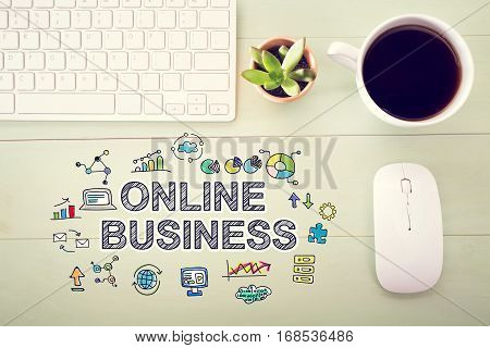 Online Business Concept With Workstation