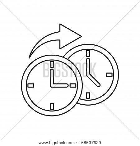 clock time arrow around thin line vector illustration eps 10