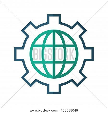 globe gear communicaton business leadership vector illustration eps 10
