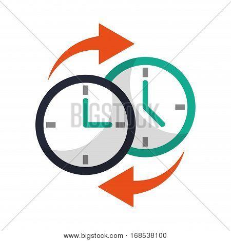 clock time arrow around vector illustration eps 10