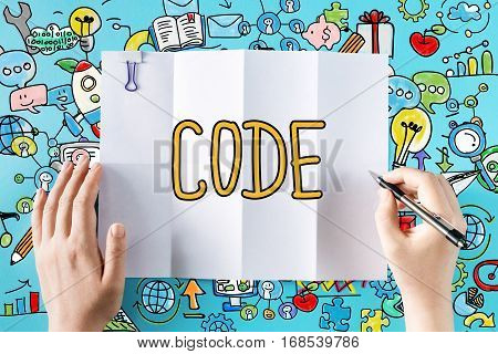 Code Text With Hands