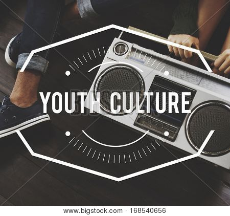 Youth Culture Vintage Vector Graphic Concept