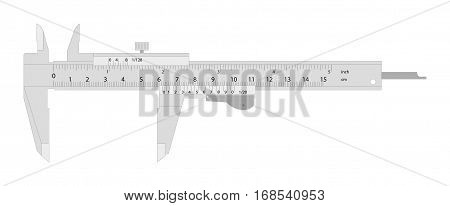 Calipers. Vector Illustration Of A Single Caliper