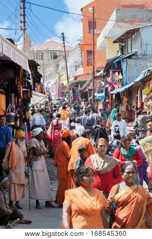 Sadhus And Pilgrims In The Streets Of Badrinath, North India