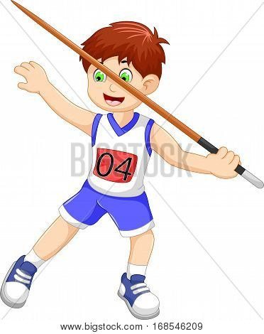funny man athlete throwing a javelin for you design