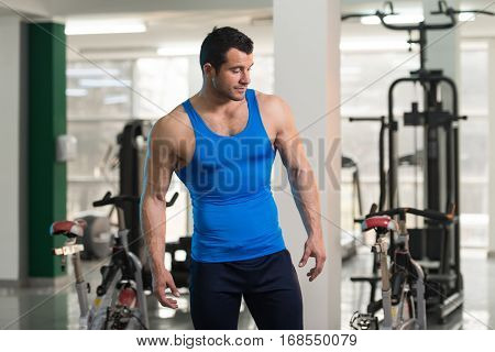 Portrait Of A Physically Fit Man In Undershirt