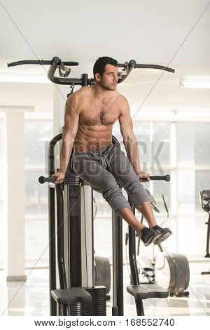 Abdominal Exercise On Parallel Bars
