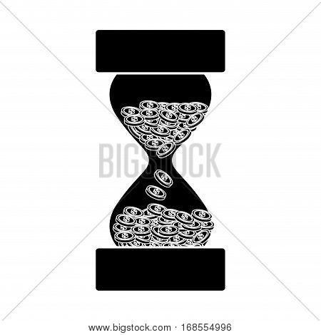 time is money sandclock hourglass icon image vector illustration design