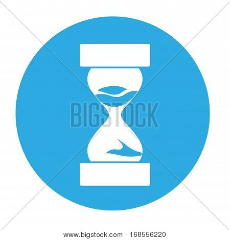 sandclock hourglass icon image two tone button vector illustration design