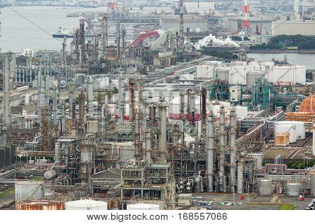 Manufacting factory in Yokkaichi city