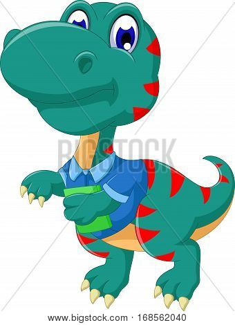 cute tyrannosaurus cartoon walking for you design