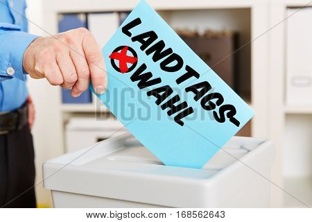 Ballot paper with german word