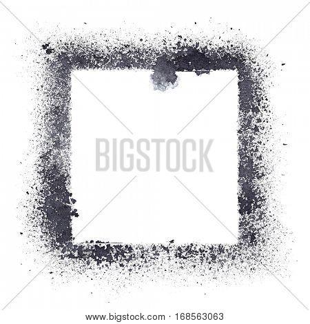 Stencil frame isolated on the white background -- raster illustration