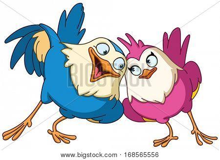 Couple of loving birds