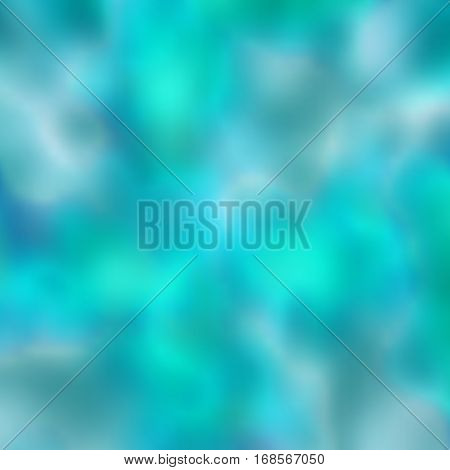 Turquoise blurred background. Water background. Summery and fresh background. Vector illustration