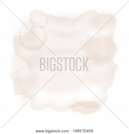 spot watercolor brown (hazelnut). vector illustration. not auto trace