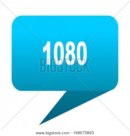 1080 blue bubble icon