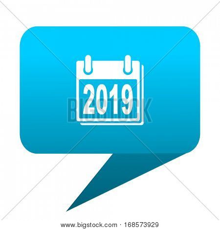 new year 2019 blue bubble icon