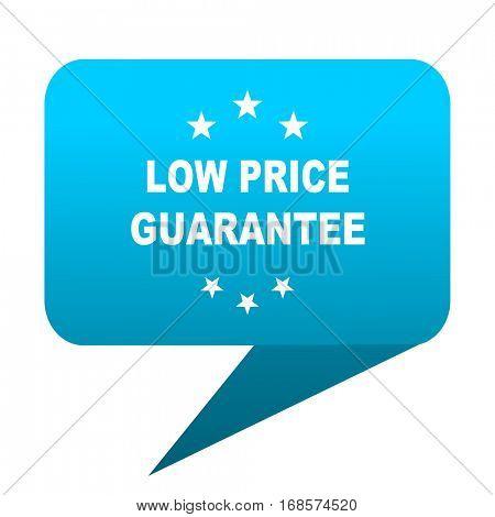 low price guarantee blue bubble icon