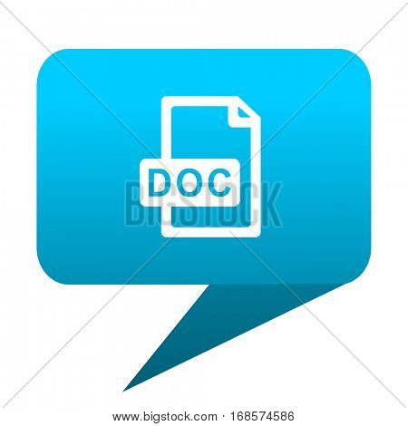 doc file blue bubble icon
